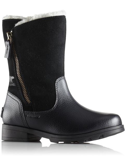 Sorel Youth Emelie Foldover Boots Black/Black